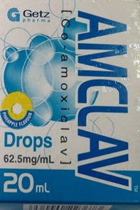 AMCLAV Drops 62.5mg/ml